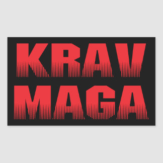 Krav Maga Rectangular Sticker