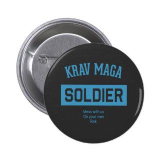 Krav Maga Soldier Pinback Button
