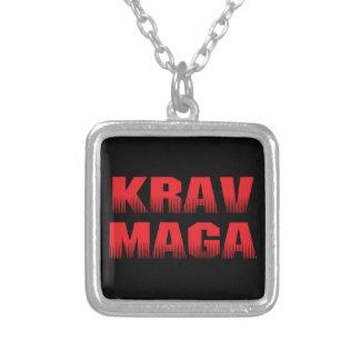 Krav Maga Square Pendant Necklace
