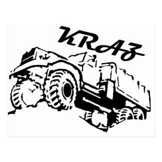 Kraz - The Soviet Russian Truck Postcard