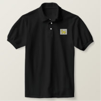 Krazy Horse (Black) Embroidered Polo Shirt