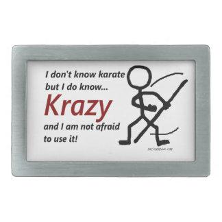 Krazy Karate Rectangular Belt Buckles