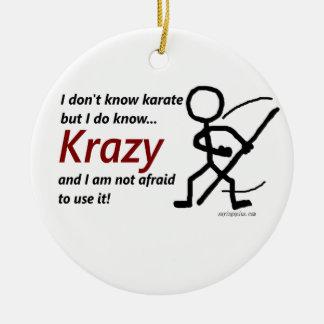 Krazy Karate Ceramic Ornament