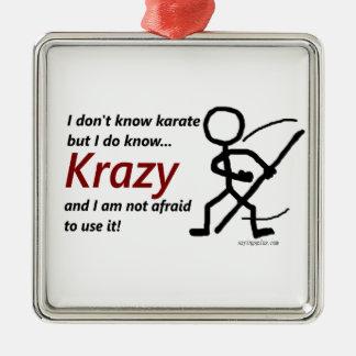 Krazy Karate Metal Ornament