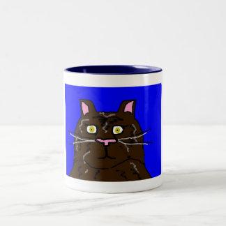 Krazy Kats Mugs- Buttons Two-Tone Coffee Mug