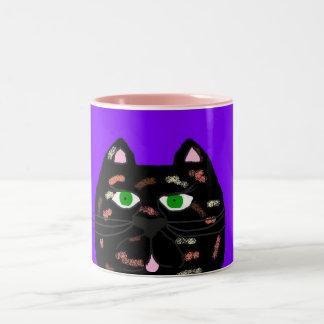 Krazy Kats Mugs- TJ Two-Tone Coffee Mug