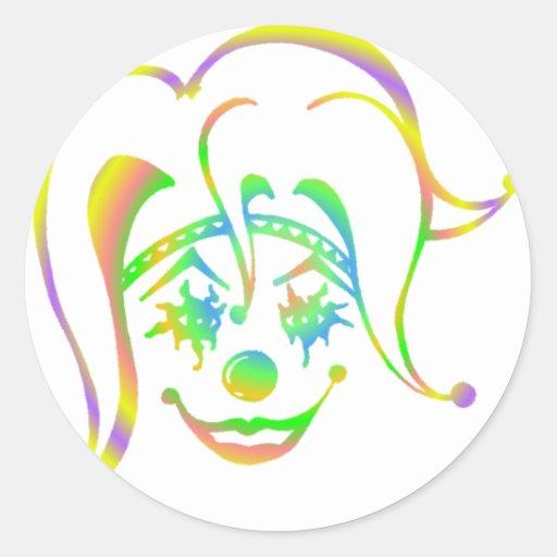 Krazy Klown Classic Round Sticker