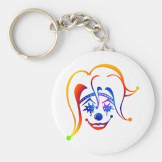 Krazy Klown Basic Round Button Keychain