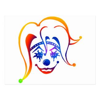 Krazy Klown Tarjeta Postal