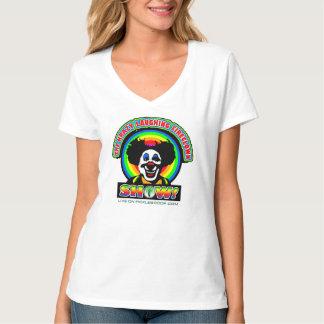 Krazy que ríe la camiseta de la mujer de FireClown