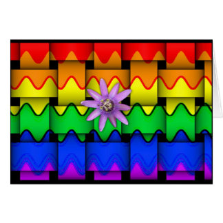 Krazy Rainbow Flag Card