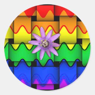 Krazy Rainbow Flag Classic Round Sticker