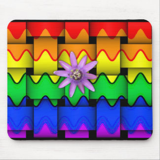 Krazy Rainbow Flag Mouse Pad