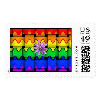 Krazy Rainbow Flag Postage