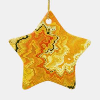 Krazy Yellow Ceramic Ornament