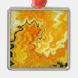 Krazy Yellow Metal Ornament