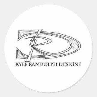KRD signiture Round Sticker