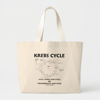 Krebs Cycle A.K.A. Citric Acid Cycle Tricarboxylic Jumbo Tote Bag