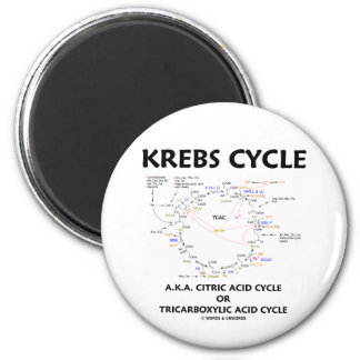 Krebs Cycle A.K.A. Citric Acid Cycle Tricarboxylic Fridge Magnet