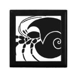krebs einsiedler colono hermit crab snail caja de joyas