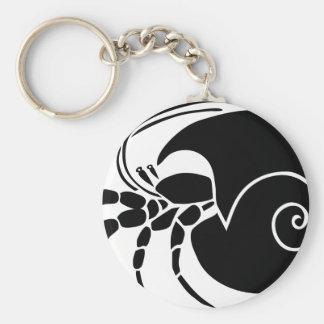 krebs einsiedler colono hermit crab snail llavero redondo tipo pin
