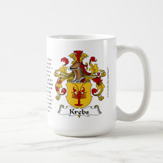 Krebs, the Origin, the Meaning and the Crest Coffee Mug