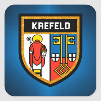 Krefeld Flag Square Sticker
