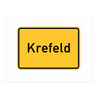 Krefeld, Germany Road Sign Postcard