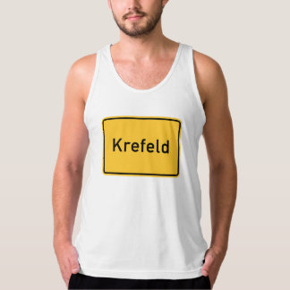 Krefeld, Germany Road Sign Tank Top