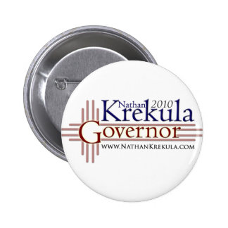 Krekula for Governor Pinback Button