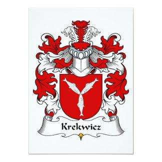 Krekwicz Family Crest Card