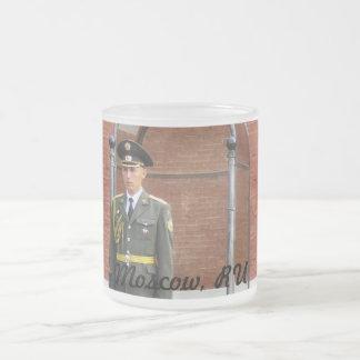 Kremlin Guard 10 Oz Frosted Glass Coffee Mug