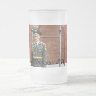 Kremlin Guard 16 Oz Frosted Glass Beer Mug