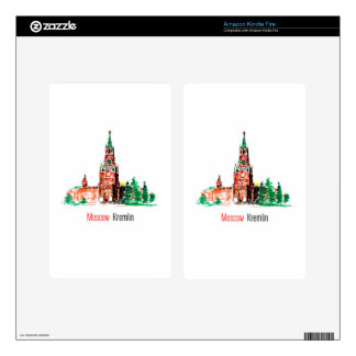 Kremlin, Red Square, Moscow, Russia Skin For Kindle Fire