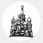 Kremlin Russia Classic Round Sticker