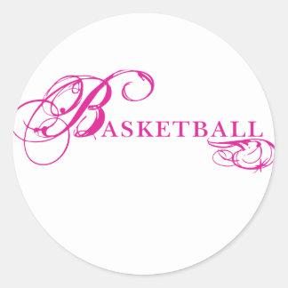 Kresday Flare Basketball Classic Round Sticker