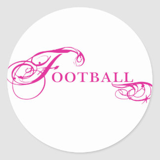 Kresday Flare Football Classic Round Sticker