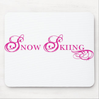 Kresday Flare Snow Skiing Mouse Pad