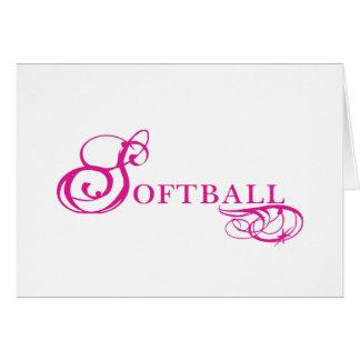 Kresday Flare Softball Greeting Cards