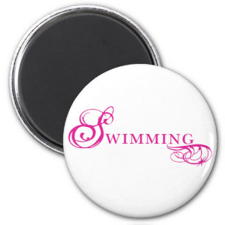 Kresday Flare Swimming 2 Inch Round Magnet