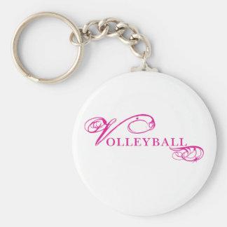 Kresday Flare Volleyball Basic Round Button Keychain
