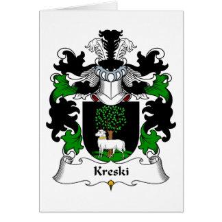 Kreski Family Crest Greeting Card