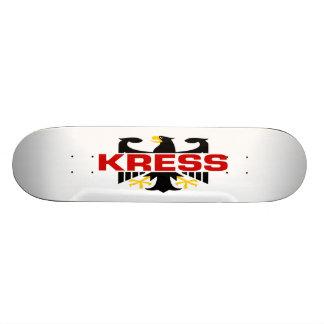 Kress Surname Custom Skate Board