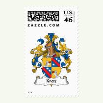 Kretz Family Crest Stamps