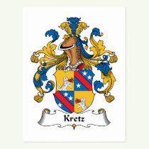Kretz Family Crest Postcard
