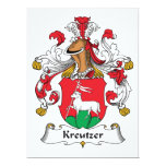 Kreutzer Family Crest Personalized Invite