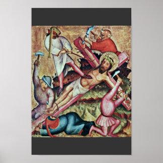 Kreuzannagelung By Meister Bertram Von Minden (Bes Poster