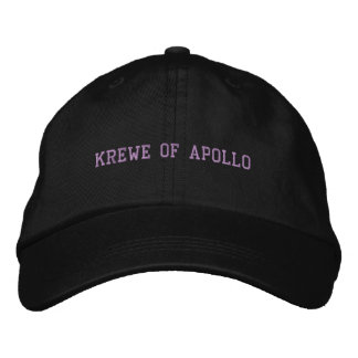 Krewe of Apollo cap black Embroidered Hats