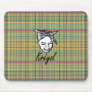 kreyol (young girl head tide) mouse pad