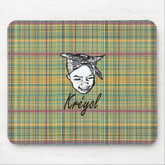 kreyol young girl head tide mousepads